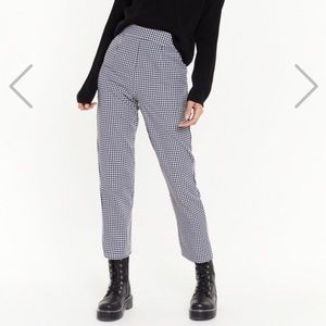 "Nasty Gal ""Gingham Up High-Waisted Pants"""